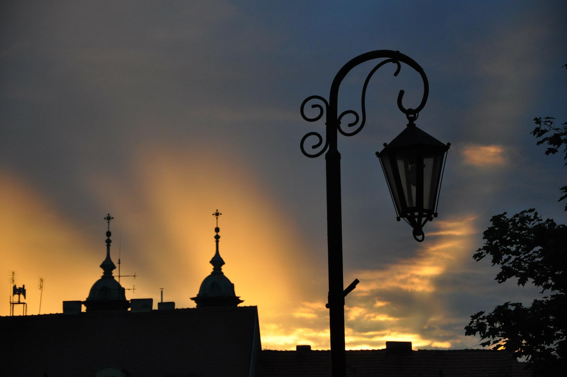 Widok na budynki w Gnieznie