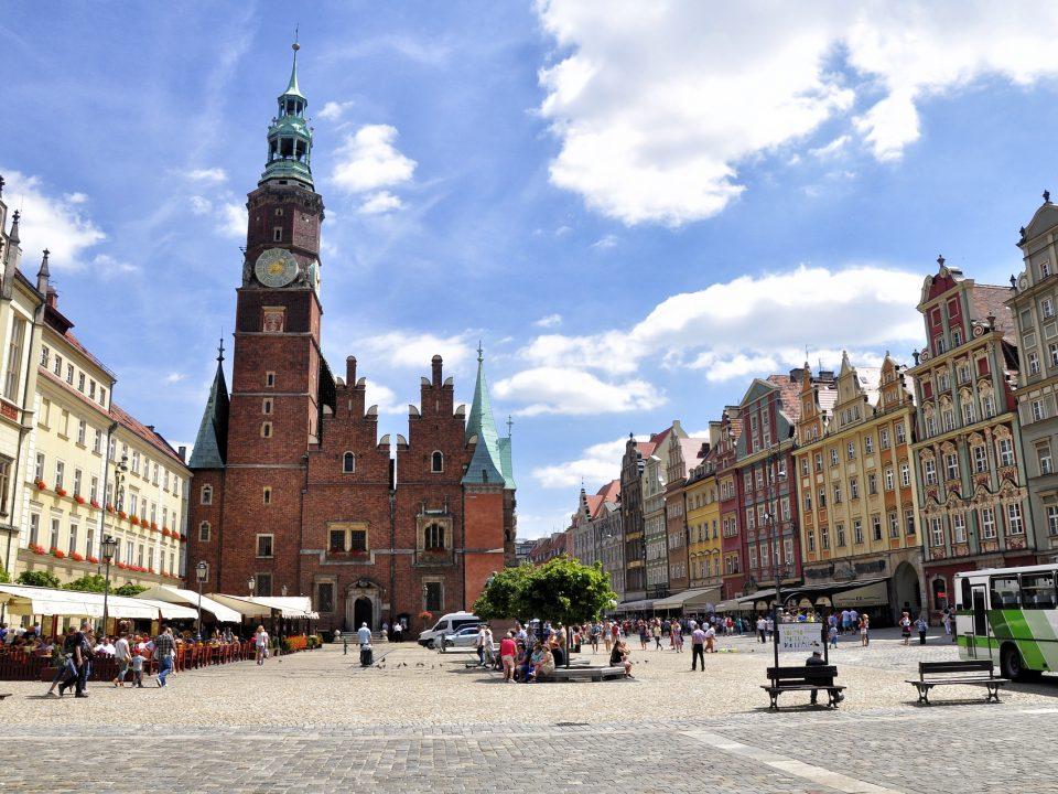 Widok na wrocławski rynek