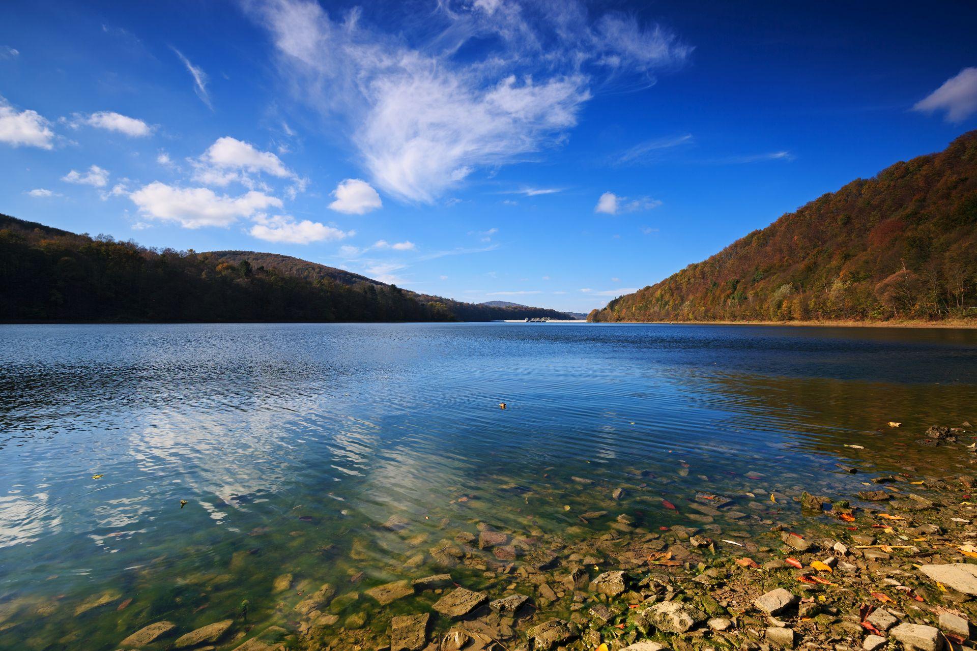 Bieszczady jezioro Solina