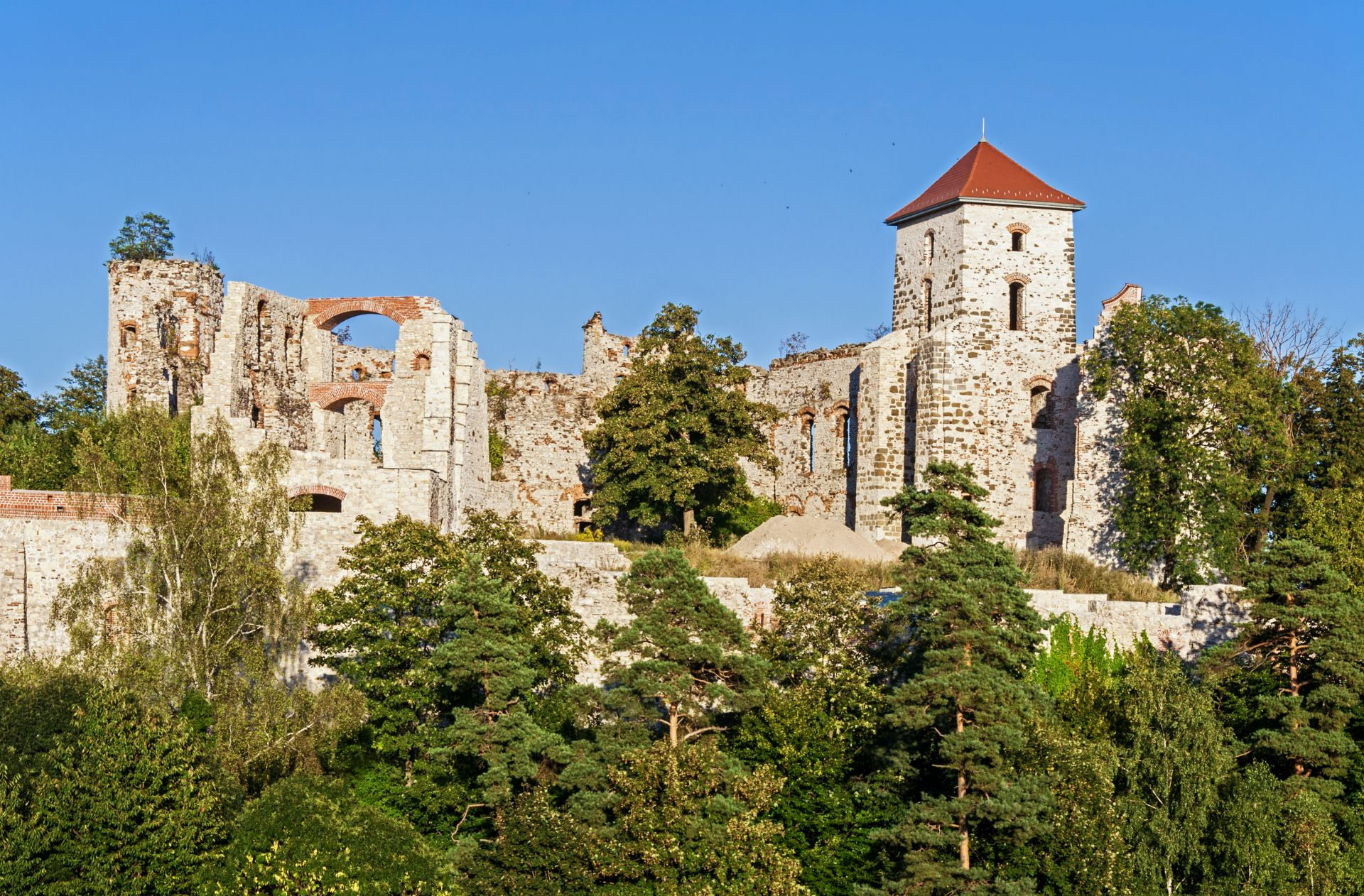Castle ruins in Tenczynek, Poland