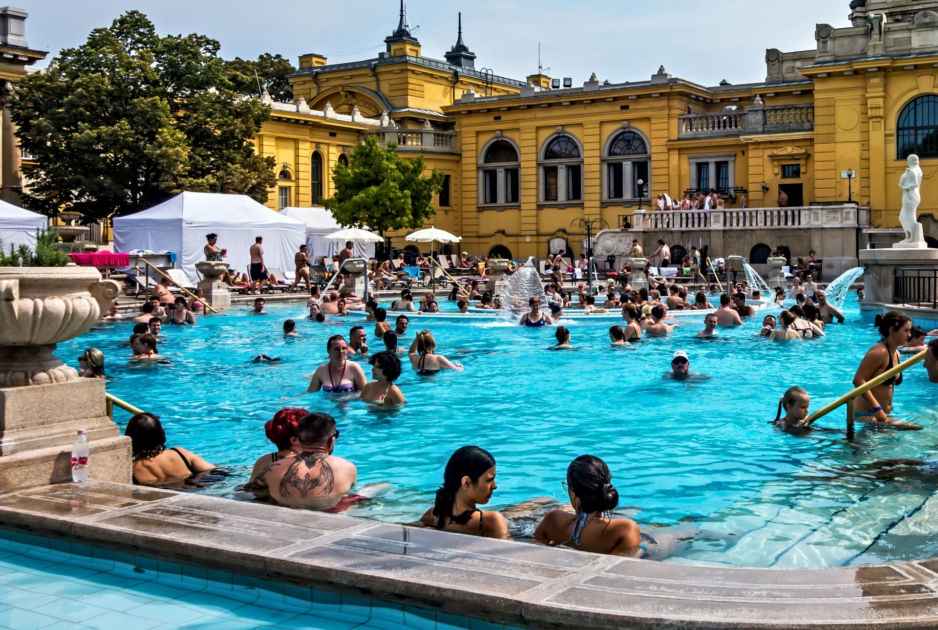 Szechenyi Spa Baths, Budapest. August 24, 2019